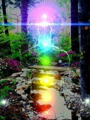 Chakra lights in Nature