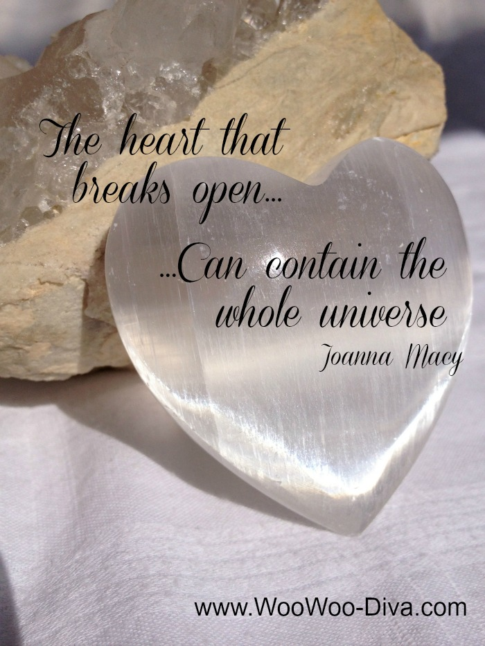 The heart that breaks open can contain the whole univers